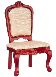 Upholstered Side Chair - Mahogany