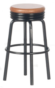 1950's Stool - Black and Oak
