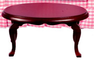 Oval Coffee Table - Mahogany