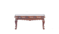 Dollhouse City - Dollhouse Miniatures Victorian Coffee Table - Walnut