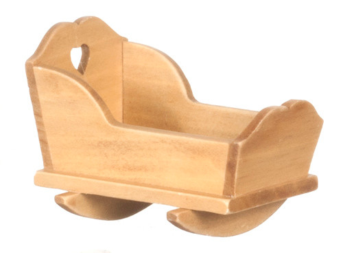 Dollhouse City - Dollhouse Miniatures Cradle - Two in One - Oak