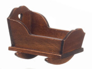 Dollhouse City - Dollhouse Miniatures Cradle - Two in One - Walnut