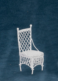 Dollhouse City - Dollhouse Miniatures Straight Chair - White Wire