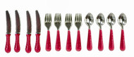 Silverware Set - Red