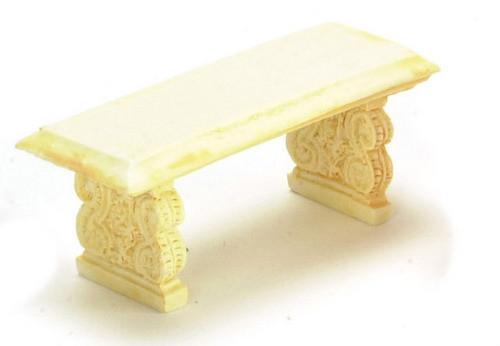 Dollhouse City - Dollhouse Miniatures Bench Set - Ivory