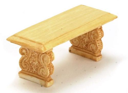 Dollhouse City - Dollhouse Miniatures Bench Set - Tan