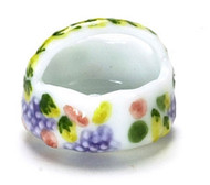 Dollhouse City - Dollhouse Miniatures Spring Garden Basket - Porcelain