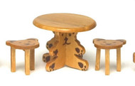 Small Table with Two Bear Stools