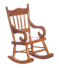 Dollhouse City - Dollhouse Miniatures Rocking Chair - Walnut