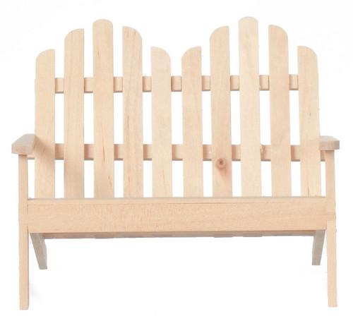 Adirondack Doube Chair - Unfinished