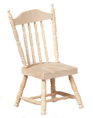 Dollhouse City - Dollhouse Miniatures Spindle Side Chair - Unfinished