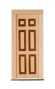 Dollhouse City - Dollhouse Miniatures 6 Raised Panel Door
