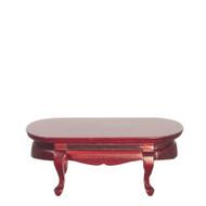 Victorian Oval Coffee Table - Mahogany