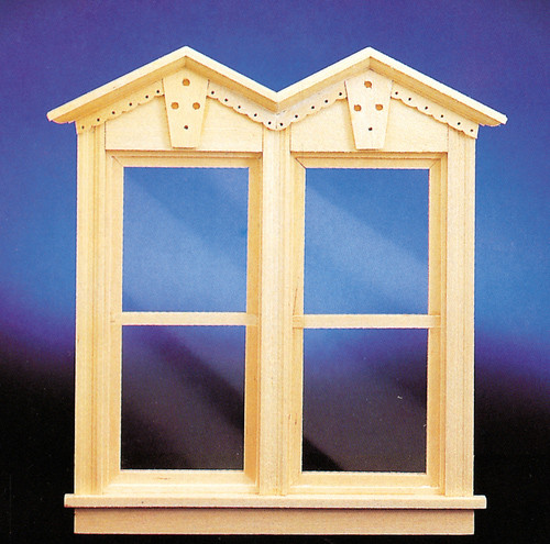 Dollhouse City - Dollhouse Miniatures Victorian Working Double Window