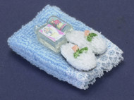 Dollhouse City - Dollhouse Miniatures Towel Set with Lotion - Blue