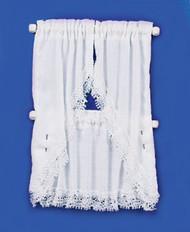 Kitchen Curtains Set - White