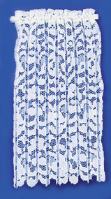 Curtain and Lace Panel Set - White