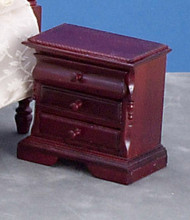 3-Drawer Nigthstand - Mahogany