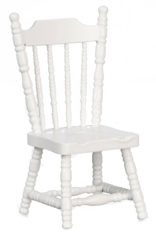 Dollhouse City - Dollhouse Miniatures Side Chair - White
