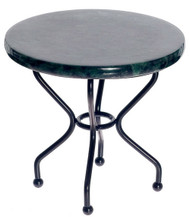 Rd. Marble Top Iron Table