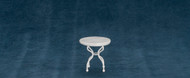 Round Marble Top White Table