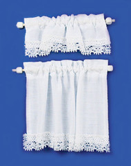 Curtains Set - Cottage Set and White