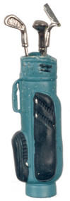 Golf Bag with 3 Clubs - Blue