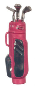 Golf Bag with 3 Clubs - Red