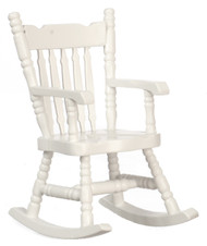 Dollhouse City - Dollhouse Miniatures Boston Rocker - White