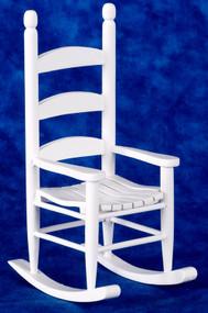 Dollhouse City - Dollhouse Miniatures Cabin Rocking Chair - White