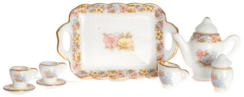 Tea Set - Pink and Gold