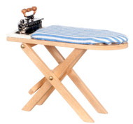 Ironing Board and Iron - Wooden