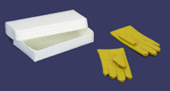 Dollhouse City - Dollhouse Miniatures 1 Pair of Gloves wth - Yellow