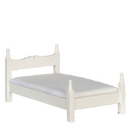 Dollhouse City - Dollhouse Miniatures Bed - White