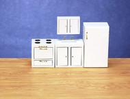 Dollhouse City - Dollhouse Miniatures Modern Refrigerator - White