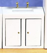 Dollhouse City - Dollhouse Miniatures Kicthen Sink - White