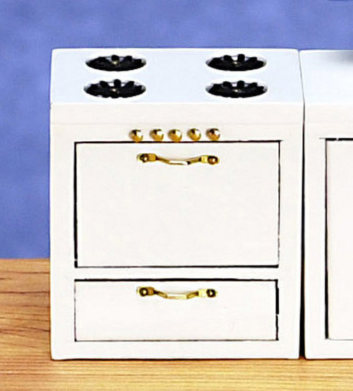 Dollhouse City - Dollhouse Miniatures Kitchen Stove - White