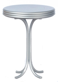 Round Tall Table - Silver