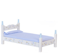 Dollhouse City - Dollhouse Miniatures Blue Single Bed