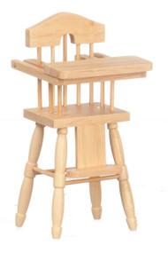 Dollhouse City - Dollhouse Miniatures High Chair - Oak