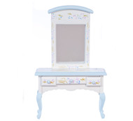 Dollhouse City - Dollhouse Miniatures Blue Vanity with Mirror