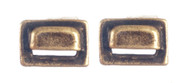 Square Drawer Pulls - Antique Brass