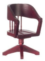 Dollhouse City - Dollhouse Miniatures Desk Chair - Mahogany