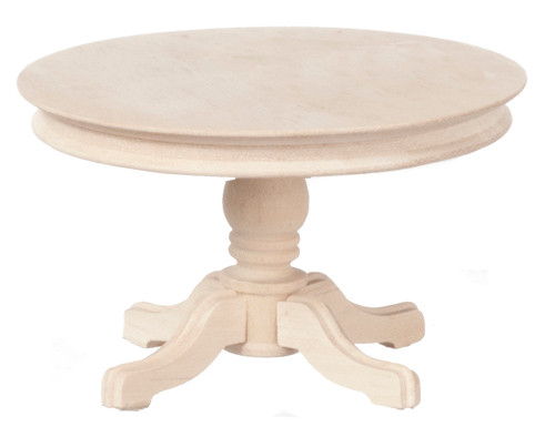 Dollhouse City - Dollhouse Miniatures Round Table - Unfinished