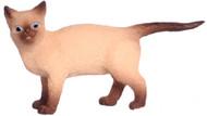 Dollhouse City - Dollhouse Miniatures Walking Cat - Siamese Brown