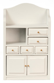 Cabinet with Drawers - White