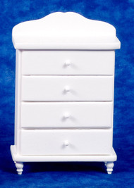 Dollhouse City - Dollhouse Miniatures Chest of Drawers - White