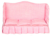 Dollhouse City - Dollhouse Miniatures Sofa - Pink fabric