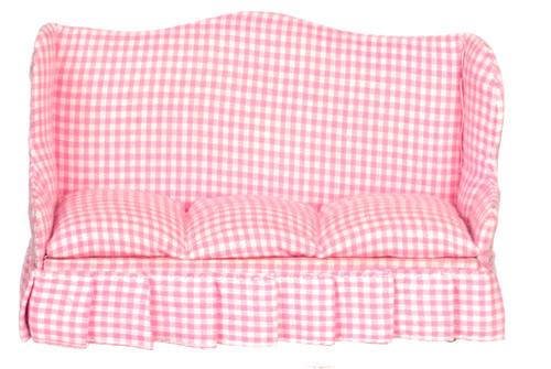 Dollhouse City - Dollhouse Miniatures Sofa - Pink fabric