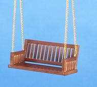 Dollhouse City - Dollhouse Miniatures Porch Swing - Walnut